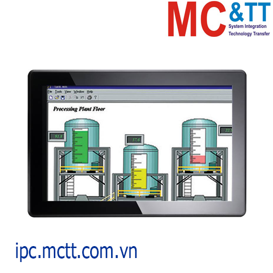 Máy tính công nghiệp không quạt màn hình cảm ứng 18.5 inch Axiomtek GOT3187W-834-PCT