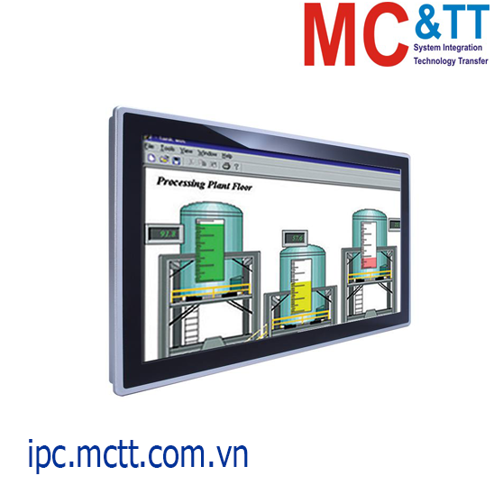 Máy tính công nghiệp không quạt màn hình cảm ứng 18.5 inch Axiomtek GOT3187WL-834-PCT