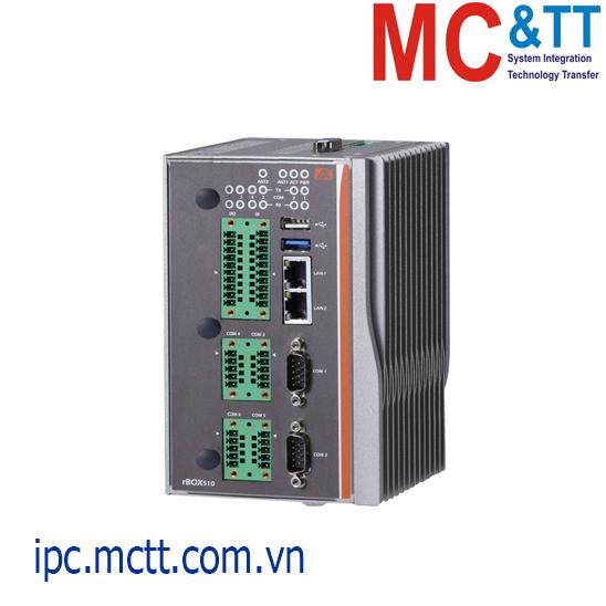 Máy tính nhúng công nghiệp không quạt rBOX510-6COM