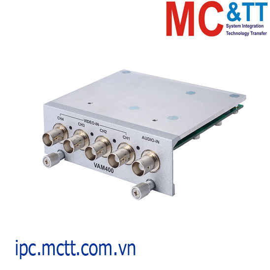 Module mở rộng 1 cổng BNC Audio-in + 4 cổng BNC Video-in Axiomtek VAM400