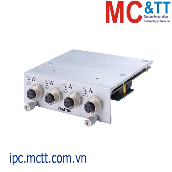 Module mở rộng 4 cổng Ethernet M12 D-coded Axiomtek VAM704
