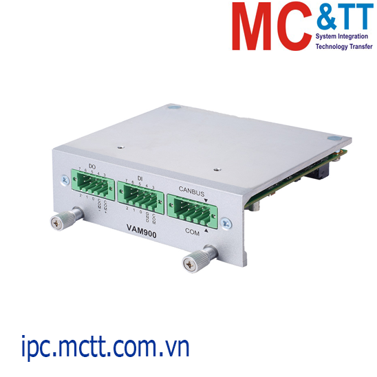 Module mở rộng 1 cổng RS-232/422/485 + 1 cổng CANBus 2.0A/B + DIO 8-in/8-out Axiomtek VAM900